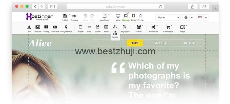 自定义网站模板内容