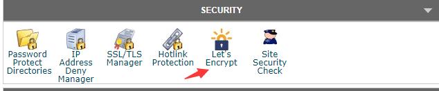 进入let's encrypt选项