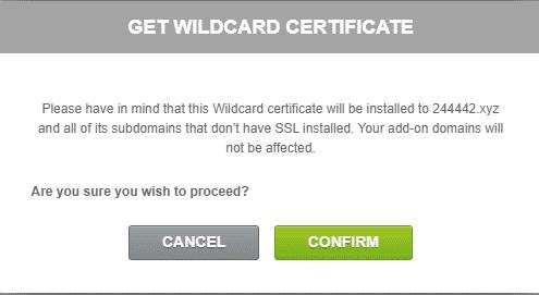 选择安装通配符证书