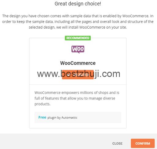 安裝 WooCommerce 插件